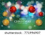 christmas light vector...   Shutterstock .eps vector #771996907