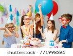 indoor shot of happy joyful... | Shutterstock . vector #771998365