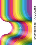 convex rainbow surface | Shutterstock . vector #77200255