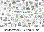 flat line design banner on... | Shutterstock .eps vector #772004155