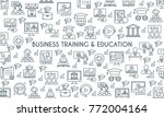 business training and education ... | Shutterstock .eps vector #772004164