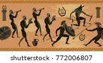 ancient greece seamless pattern.... | Shutterstock .eps vector #772006807