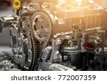 car engine part  concept of... | Shutterstock . vector #772007359
