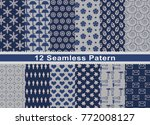 set of pattern in seamless... | Shutterstock . vector #772008127