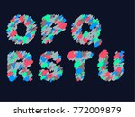 vibrant crayon style font set | Shutterstock .eps vector #772009879