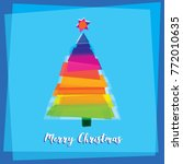 the multicolored christmas tree ... | Shutterstock .eps vector #772010635