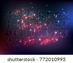 outlined geometrical font set... | Shutterstock .eps vector #772010995