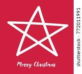 the white christmas star on the ... | Shutterstock .eps vector #772011991