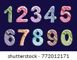 bubble cartoon of fonts .... | Shutterstock .eps vector #772012171