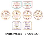stylized passport stamps of... | Shutterstock .eps vector #77201227