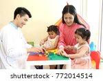 preschoolers having fun in... | Shutterstock . vector #772014514