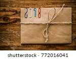 happy new year 2018   clips on... | Shutterstock . vector #772016041