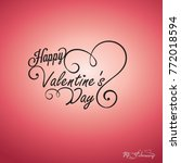 happy valentines day card ... | Shutterstock .eps vector #772018594
