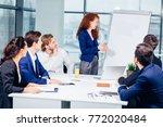presentation in business... | Shutterstock . vector #772020484