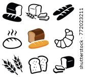 bread icon collection   vector... | Shutterstock .eps vector #772023211