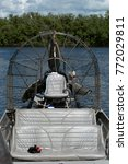 Small photo of The airboat on water