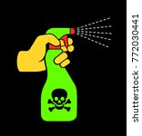 spray with toxic and poisonous... | Shutterstock .eps vector #772030441