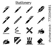 pen  pencil  stationery icon... | Shutterstock .eps vector #772034881