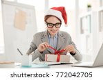 smiling young impatient... | Shutterstock . vector #772042705