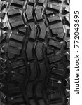 black motorcycle tire. | Shutterstock . vector #772043695