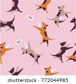 vector illustration seamless... | Shutterstock .eps vector #772044985