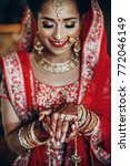 stunning indian bride dressed... | Shutterstock . vector #772046149