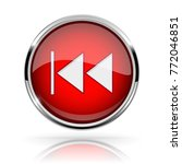 red round media button. rewind... | Shutterstock .eps vector #772046851