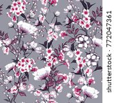 trendy  floral pattern in the... | Shutterstock .eps vector #772047361