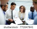 young confident economist...   Shutterstock . vector #772047841