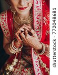 stunning indian bride dressed... | Shutterstock . vector #772048681