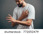 people  healthcare and problem... | Shutterstock . vector #772052479