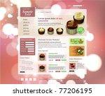 vector website design template | Shutterstock .eps vector #77206195