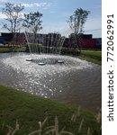 fountain in park | Shutterstock . vector #772062991