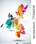 vector 3d irregular patterns   Shutterstock .eps vector #77206318
