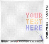 Vector Cross Stitches Template...