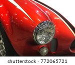 close up of a vintage sport car