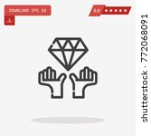 outline diamond icon isolated...