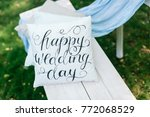wedding  decor  gardening... | Shutterstock . vector #772068529