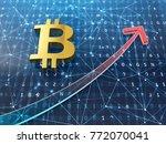 bitcoin growth concept. stock... | Shutterstock . vector #772070041