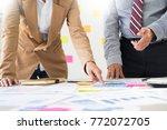 team work process. young...   Shutterstock . vector #772072705