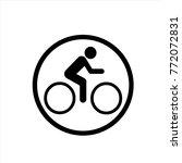 bike icon in trendy flat style...
