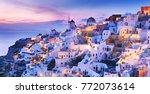 greece. charming twilight...   Shutterstock . vector #772073614