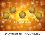 christmas light vector... | Shutterstock .eps vector #772075369
