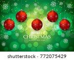 christmas light vector... | Shutterstock .eps vector #772075429