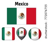 illustration flag of mexico ... | Shutterstock .eps vector #772076755