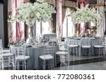 table sets for wedding or... | Shutterstock . vector #772080361