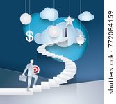 businessman holding target... | Shutterstock .eps vector #772084159