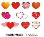various hearts | Shutterstock .eps vector #7720861