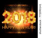 happy new 2018 year season... | Shutterstock . vector #772090141
