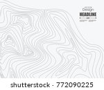 wave lines background. can be... | Shutterstock .eps vector #772090225